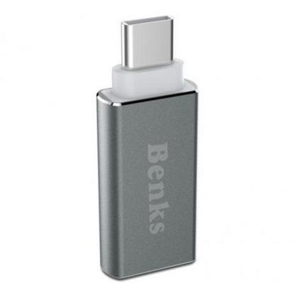 Переходник Benks Type-C to USB 3.0 (Silver)1