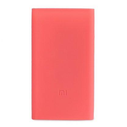 Силиконовый чехол Xiaomi для Powerbank 10 2 — розовый