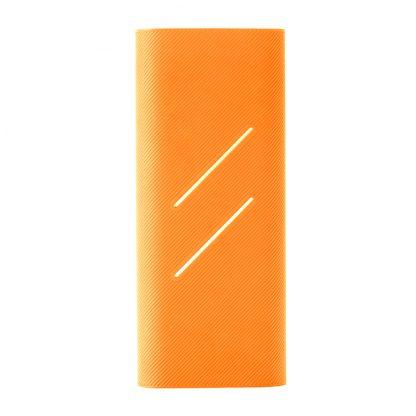 Силиконовый чехол Xiaomi для Powerbank 16 — оранжевый
