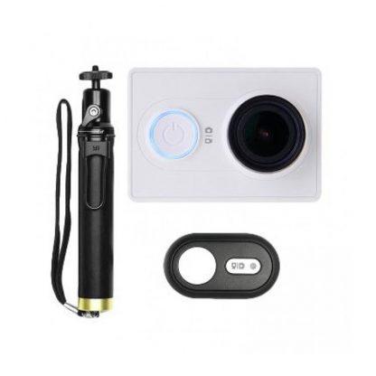 Экшн-камера Xiaomi Yi Action Camera Basic Selfie Stick set Global White - 1