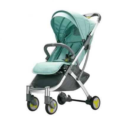 Детская коляска трансформер Xiaomi BEBEHOO START Lightweight Four-wheeled Stroller (Green) - 1