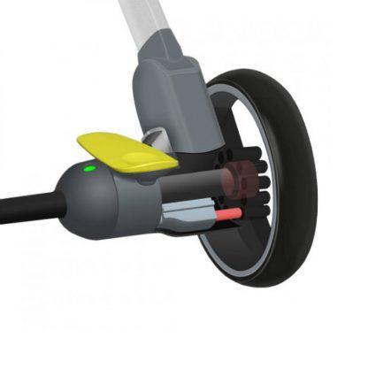 Детская коляска трансформер Xiaomi BEBEHOO START Lightweight Four-wheeled Stroller (Green) - 2