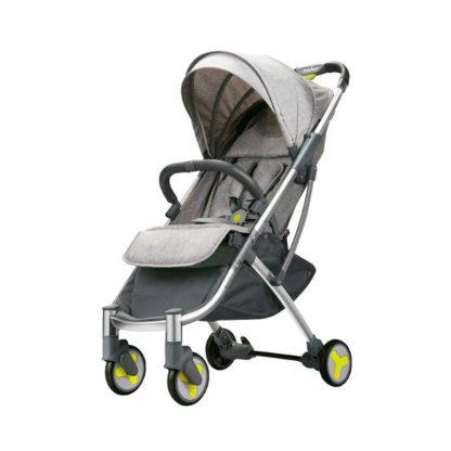 Детская коляска трансформер Xiaomi BEBEHOO START Lightweight Four-wheeled Stroller (grey) - 1