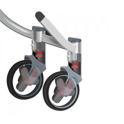 Детская коляска трансформер Xiaomi BEBEHOO START Lightweight Four-wheeled Stroller (grey) - 2