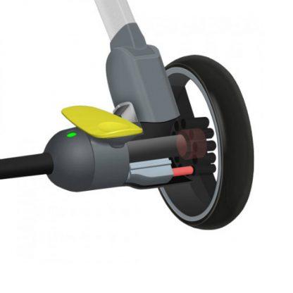 Детская коляска трансформер Xiaomi BEBEHOO START Lightweight Four-wheeled Stroller (grey) - 3