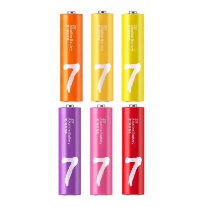 Набор пальчиковых батареек Xiaomi Rainbow 7 AAA (24шт)1