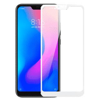 Защитное стекло 3D Xiaomi Redmi 6 Pro A2 Lite белый