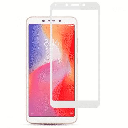 Защитное стекло 3D Xiaomi Redmi 6A белый