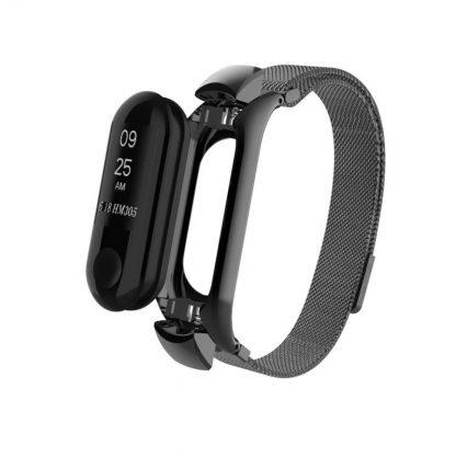 Миланский сетчатый браслет для Xiaomi Mi Band 3 Gray (магнитный замок)