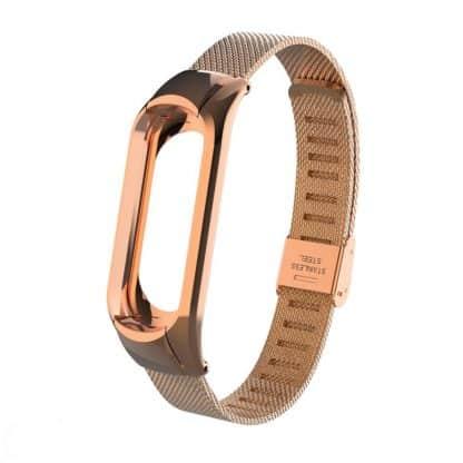 Металлический браслет для Xiaomi Mi Band 3 - золотой