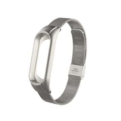 Металлический браслет для Xiaomi Mi Band 3 - серебряный