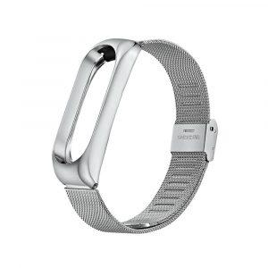 Металлический браслет для Xiaomi Mi Band 3/4 Cеребряный - 1