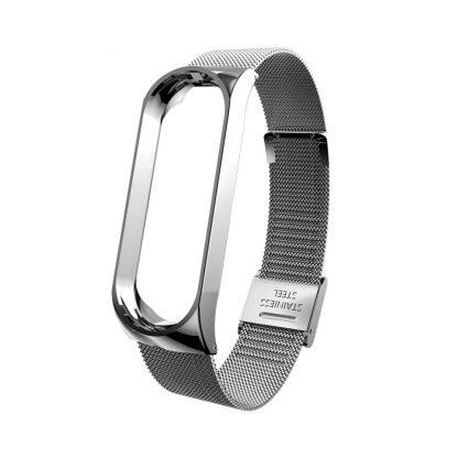 Металлический браслет для Xiaomi Mi Band 3/4 Cеребряный - 2