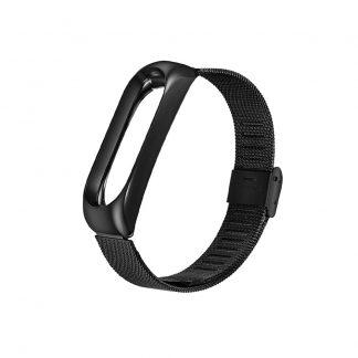 Металлический браслет для Xiaomi Mi Band 3/4 Черный - 1
