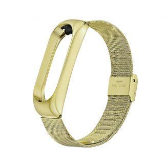 Металлический браслет для Xiaomi Mi Band 3/4 Золотой - 1