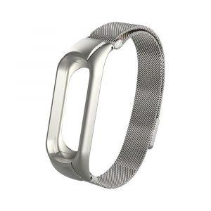 Миланский сетчатый браслет для Xiaomi Mi Band 3/4 Silver (магнитный замок) - 1