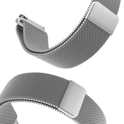 Ремешок метал Magnetic для Xiaomi Bip Lite Серебристый - 4