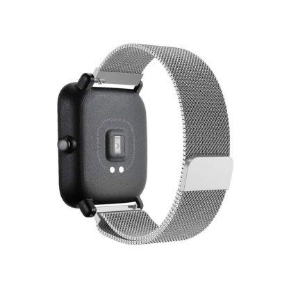 Ремешок метал Magnetic для Xiaomi Bip Lite Серебристый - 6