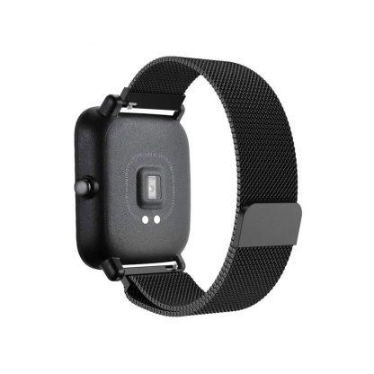 Ремешок метал Magnetic для Xiaomi Bip Lite Черный - 7