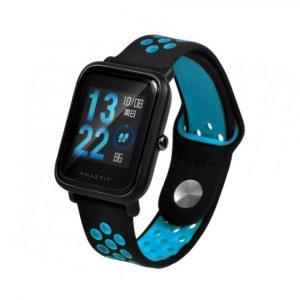 Ремешок силиконовый Nike Sport для Xiaomi Bip Lite Черный/Синий - 1