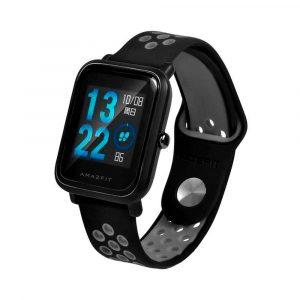 Ремешок силиконовый Nike Sport для Xiaomi Bip Lite Черный/Серый - 1