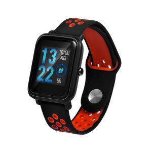 Ремешок силиконовый Nike Sport для Xiaomi Bip Lite Черный/Красный - 1