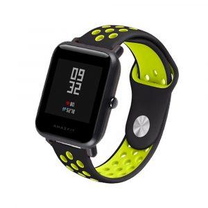 Ремешок силиконовый Nike Sport для Xiaomi Bip Lite Черный/Желтый - 1