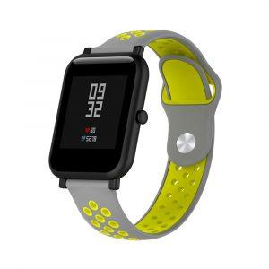 Ремешок силиконовый Nike Sport для Xiaomi Bip Lite Серый/Желтый - 1