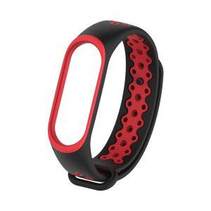 Remeshok Silikonovyj Nike Sport Dlya Xiaomi Mi Band 3 4 Chernyj Krasnyj 01
