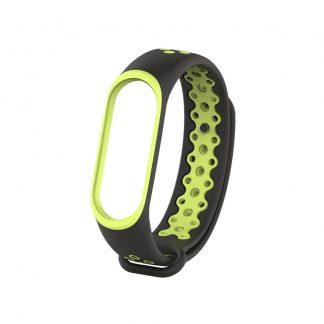 Remeshok Silikonovyj Nike Sport Dlya Xiaomi Mi Band 3 4 Chernyj Zheltyj 1