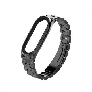 Стальной браслет для Xiaomi Mi Band 3/4 Черный - 1