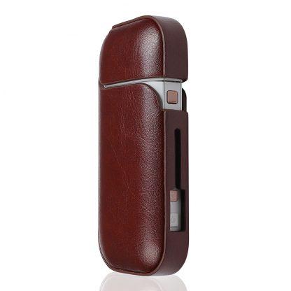 Кожаный-чехол-Brosco-Smooth-Leather-для-Iqos,-темно-коричневый3