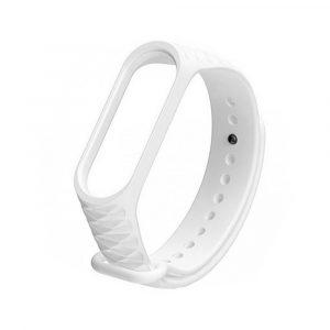 Силиконовый ремешок для Mi Band 3/4 - Белый(рифленый) - 1