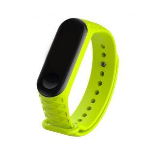 Силиконовый ремешок для Mi Band 3/4 - Зеленый (рифленый) - 1