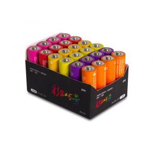 Батарейки алкалиновые Xiaomi Rainbow 5 AA (24шт) - 1