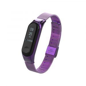Металлический браслет для Xiaomi Mi Band 3/4 - фиолетовый - 1