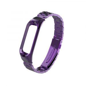 Стальной браслет для Xiaomi Mi Band 3/4 Фиолетовый - 1