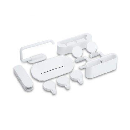 Набор настенных держателей для ванной Happy Life Bathroom 10шт с крючками - 1