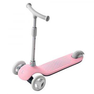 Детский самокат-кикборд Xiaomi Rice Rabbit Scooter (Pink) - 1