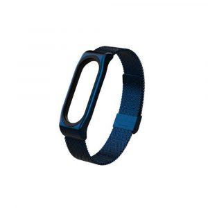 Металлический браслет для Xiaomi Mi Band 3/4 Синий - 1