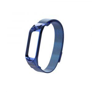 Миланский сетчатый браслет для Xiaomi Mi Band 3/4 Синий (магнитный замок) - 1
