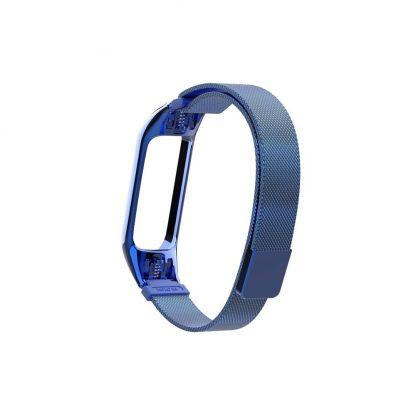 Миланский сетчатый браслет для Xiaomi Mi Band 3/4 Синий (магнитный замок) - 2