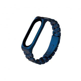 Стальной браслет для Xiaomi Mi Band 3/4 Синий - 1