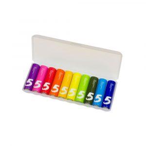 Батарейки алкалиновые Xiaomi Rainbow 5 AA (уп.10 шт.) - 1