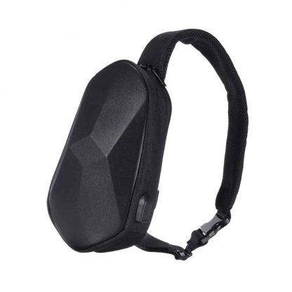 Рюкзак через плечо Xiaomi Beaborn Polyhedron Chest Pack PU Black - 1