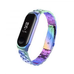 Стальной браслет для Xiaomi Mi Band 3/4 - цветной - 1