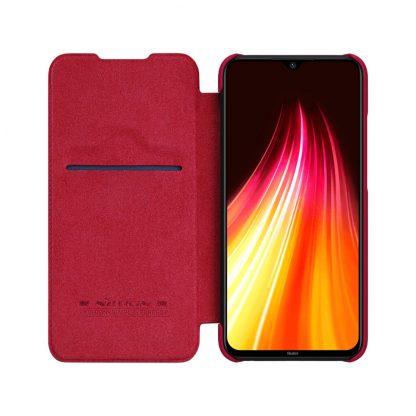 Knizhka Nillkin Qin Leather Xiaomi Redmi Note 8 Krasnyj 3