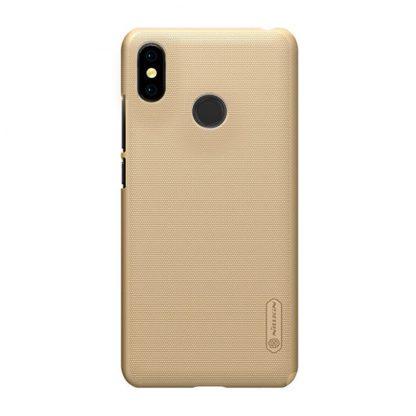 Накладка Nillkin силиконовая для Xiaomi Mi Max 3 золотой - 1