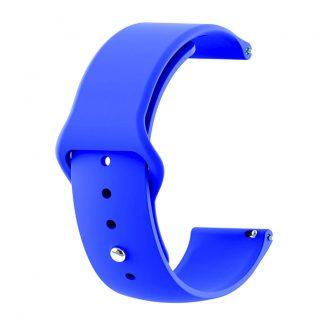 Ремешок силиконовый для Xiaomi Amazfit GTR синий - 1