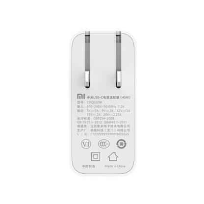 Zaryadnoe Ustrojstvo Xiaomi Mi Usb C 45w Cdq02zm 2